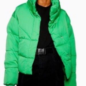 Topshop Cropped Puffer Coat